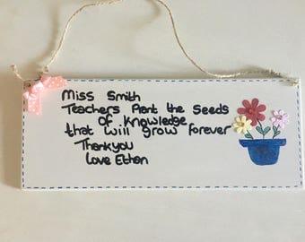 Teacher gift hanging Plaque