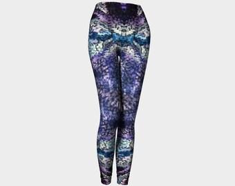 Bluebird Leggings, printed leggings, art leggings, workout leggings, abstract leggings, modern print leggings, blue leggings