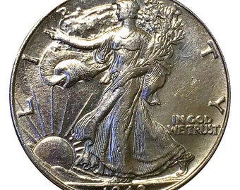 1942 Walking Liberty Half Dollar / 50C - BU / MS RD / Unc - Luster