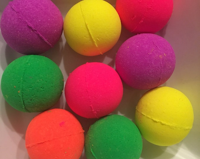 Choose one neon bath bombs kids bath bombs