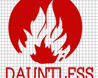 DAUNTLESS Symbol Divergent  SVG/DXF/download for Cricut and Silhouette