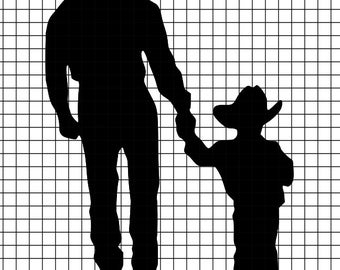 Cowboy Father and Son SVG/DXF/download for Cricut and Silhouette