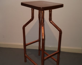 Copper pipe kitchen bar stool