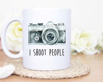 I Shoot People Mug, Custom I Shoot People Mug, Funny Photography Mug, Camera Mug,Photo Mug,Photographer Gift Funny Mug, Funny Camera Mug