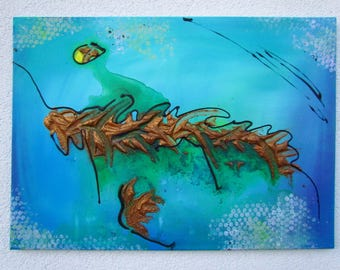 Original MisQue art | Abstract acrylic painting sea view 50 x 70 cm