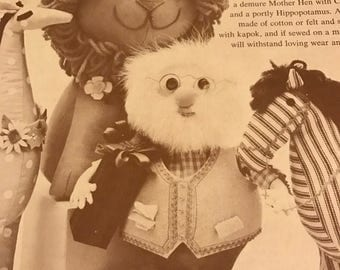 Vintage 9 Stuffed Toys from the November 1961 issue of Woman's Day Magazine
