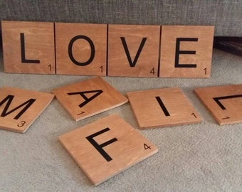 Giant Scrabble Letters Wooden Tiles
