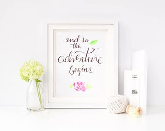 Calligraphy Print || Love Quote || Wedding Gift || Inspirational Quote || Wedding Decoration || Rustic Wedding Decor