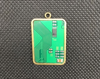 Computer Chip Jewelry Pendant