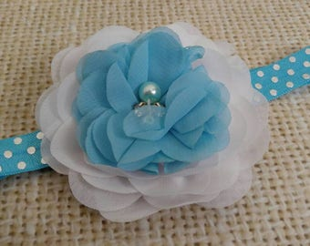 Summer Blue newborn Headband