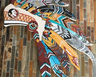 Custom FSU Headdress Wall Art // Decor