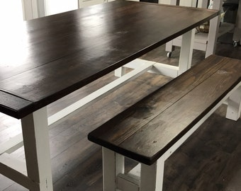 Farmhouse Kitchen Table BENCH