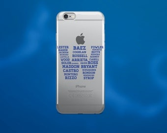 Chicago Cubs - Fly The W Cubs Roster iPhone Case, 2016 World Series Champions