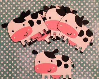Cow die cuts, Cow die cut, Barnyard Party, Farm Barnyard Birthday Party Decorations, Cow Cut Outs, Cow Craft, Cow Scrapbook