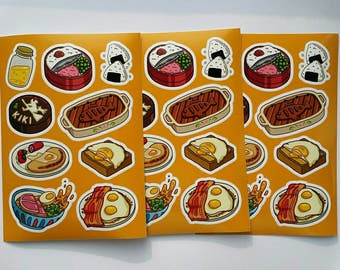 A6 Stickersheet - Ghibli inspired food