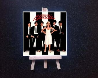 Blondie - Parallel lines -  ceramic tile with easel