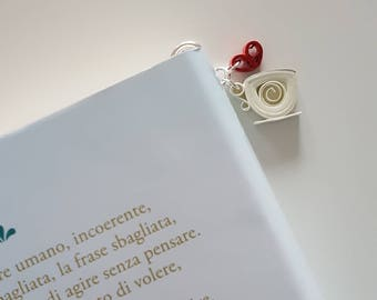 Bookmark quilling Cup of coffee and little heart