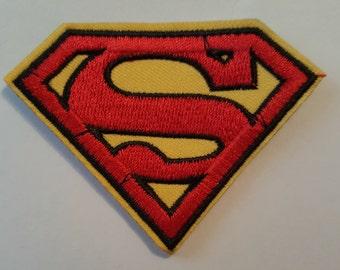 Superman symbol logo Iron on Sew on Patch transfer