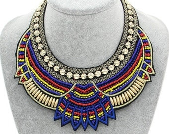 Beaded African Tribal Inspired Necklace