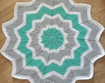 Crochet blanket, baby blanket, Crochet baby blanket, baby girls blanket, baby boys blanket, baby shower, star shape blanket, baby gift