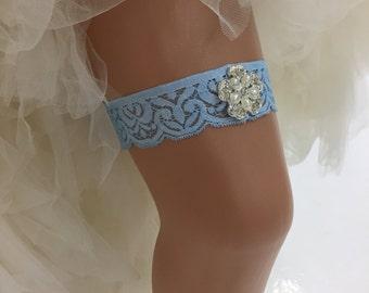 Adrianna - Glamorous Bling Bridal Wedding Garter