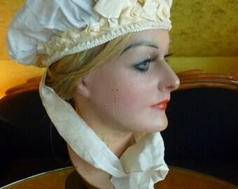Wedding Bonnet , antique hat, victorian Hat, 19th Century