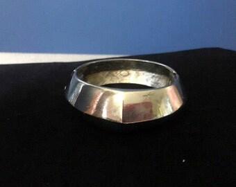 Vintage 1960's Givenchy silver cuff bracelet