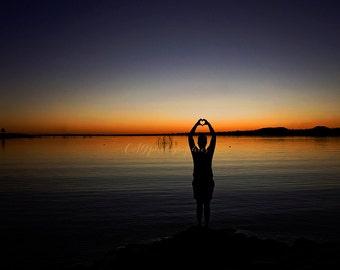 sunset silhouette - sunset - fine art photographic print
