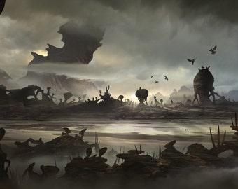 Plains of Skorvgaard - Poster Wall Decor - Fantasy Posters - Concept Art