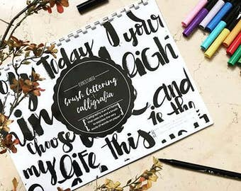 Brush lettering & Calligraphy Work Sheets Book-Workbook