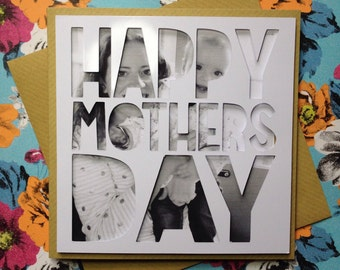 Personalised Photograph Papercut Mothers Day Card