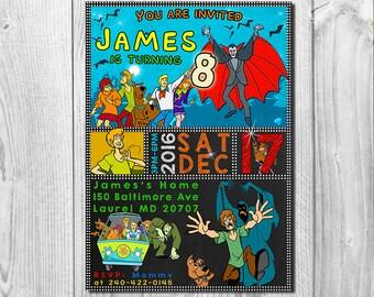 Scooby Doo Invitation, Scooby Doo Invite, Scooby Doo Birthday Invitation, Scooby Doo Party