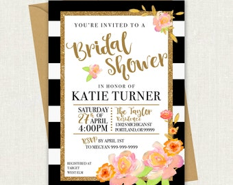 Bridal Shower Invitation // Bridal Shower // Printable Template