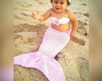 Mermaid Outfit//Baby Photography Prop