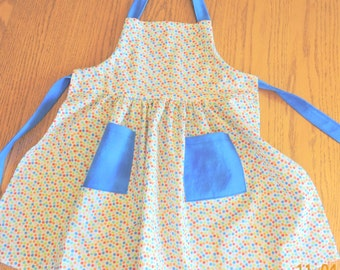 Little Girls' Apron - Dots Dots Dots!