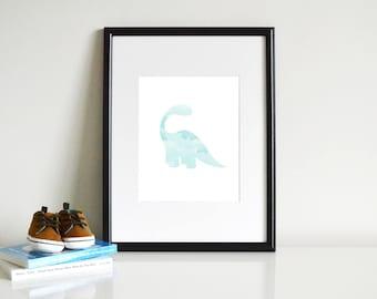 Brontosaurus Dinosaur Printable - Wall Art