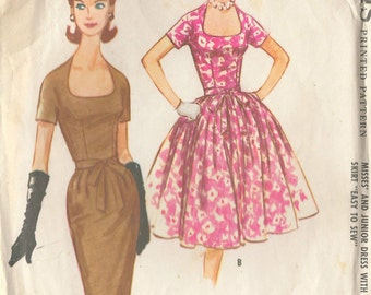 "1961 Vintage Sewing Pattern B36"" DRESS (R227) McCall 5777"