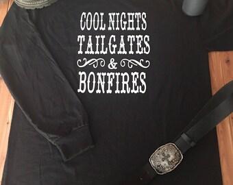 Cool Nights, Tailgates & Bonfires Shirt