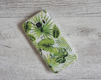 Tropical Rainforest Palm Tree Design Soft Mobile Phone Case - for;  for; Samsung Galaxy S5, S6, S6 Edge, S7 & S7 Edge