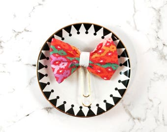 Summer Colours Fabric Planner Bow Clip