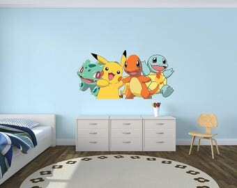Charmander Bulbasaur Squirtle - Wall Decal Vinyl Sticker Art Home Decor Iphone Android Game