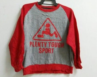 Vintage Plenty tough sport sweatshirt spell out big logo