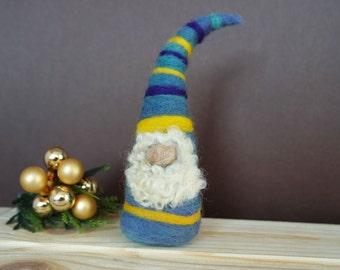 Needle Felted Gnome - Christmas Decoration - Felt Gnome - Tomte - Nis - Nisse - Christmas Gnome - Miniature Gnome - Made to Order