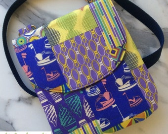 STRICTLY LIMITED!! Hard to find Asbury Thomas Knauer purple blue yellow crossbody shoulder strap pocket gift under 50 everyday mothers day