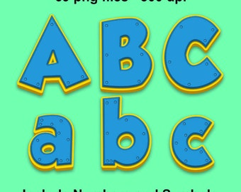 Puppy Company - Full Alphabet, Numbers and Symbols - 69 png files 300 dpi
