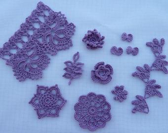 decor for scrapbooking/sewing/cardmaking/crochet applique/crochet flowers