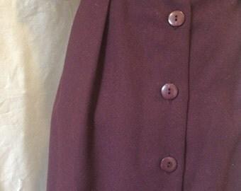 Burgundy Belted Skirt