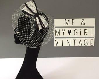 Ivory Lace Bow Birdcage, Bow Birdcage, Lace Birdcage, Wedding Fascinator, Bow With Veil, Wedding Guest Headpiece, Black Hair bow, Birdcage