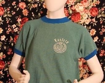 1960's Sportswear by Creslan Cotton Eastern Sweatshirt Short Sleeve Shirt
