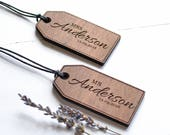 Wooden Luggage Tag  Honeymoon Luggage Tags  Custom Mr  Mrs Tags Wedding Gifts  Fifth Anniversary Gift  Personalised Luggage Tag